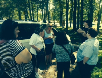 The Moncton Health & Wellness Group goes to walk at Centennial Park.